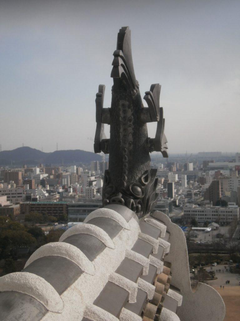 兵庫県姫路城しゃちほこ