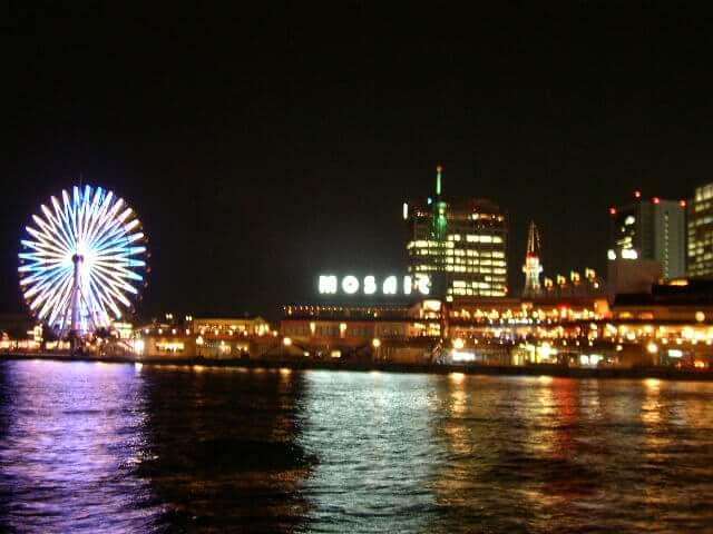 夜の神戸港の景色