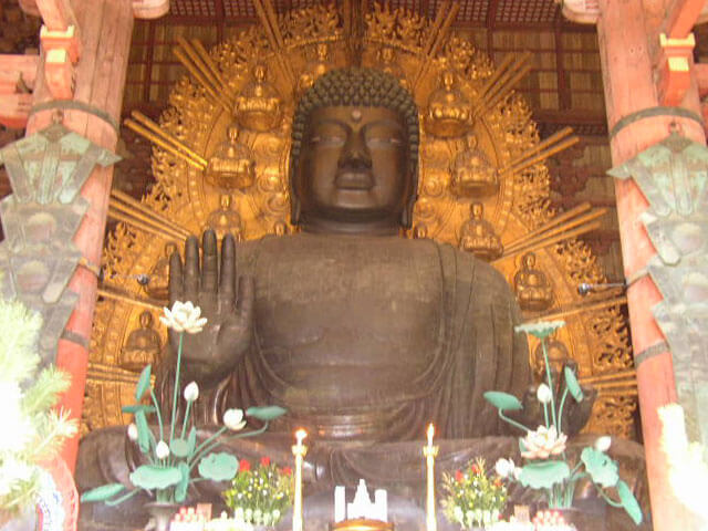 奈良県奈良公園の東大寺奈良の大仏