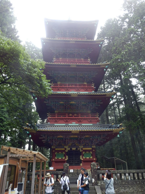 栃木県日光旅行日光東照宮五重塔