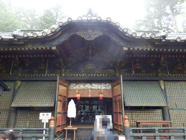 栃木県日光旅行日光東照宮奥宮拝殿