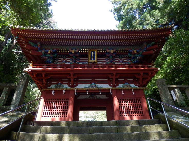 静岡県静岡市の旅行久能山東照宮桜門